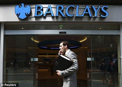 Probe: Fourteen Barclays traders at the heart of the Libor-fixing scandal are being investigated by the FBI (File photograph)
