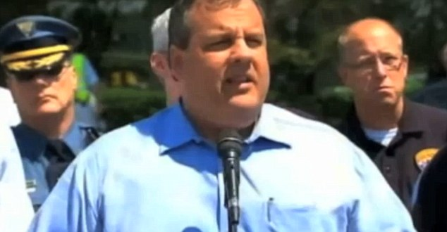 Attack: New Jersey Governor Chris Christie lost his temper at a reporter during a press conference this weekend for apparently going off topic