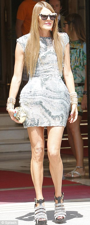 Switched up her look: Anna Dello Russo