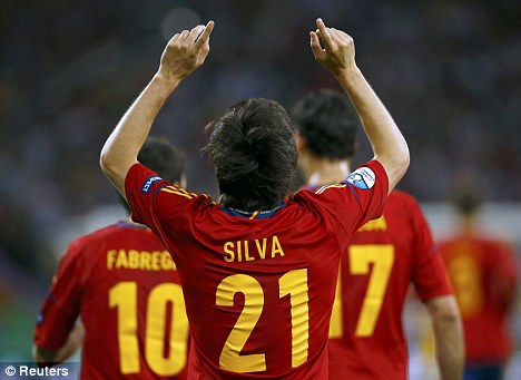 No sign of fatigue: David Silva started every game of Spain's Euro 2012 campaign