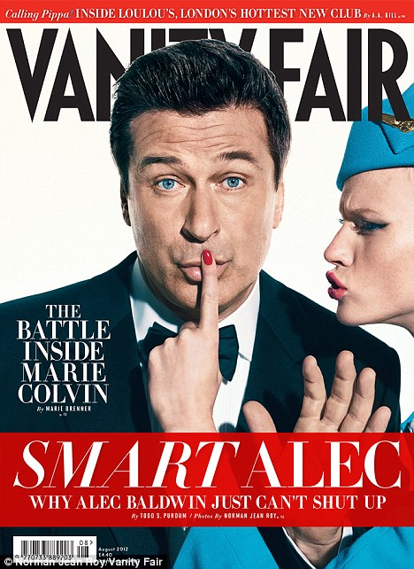 Chatty man: Alec gave the shock interview to the August issue of Vanity Fair, on sale in the UK on Friday, July 6