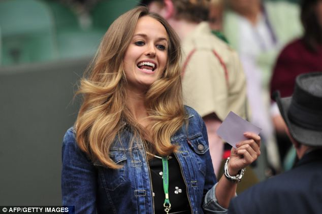 Lucky clover: Kim Sears, girlfriend of Britain's Andy Murray, in her £135 Whistles dress
