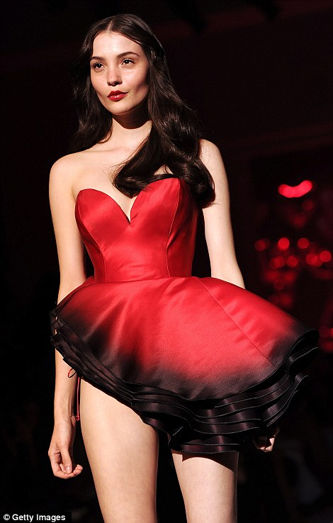 Statement: A sweetheart neckline on this pretty ruffled corset dress