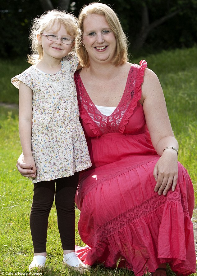 Fortunate: Jessica's mother Carly, 33, says her daughter is aware how lucky she is
