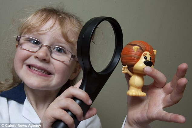 Envy of her friends: Jessica roadtests the toys and gives them ratings