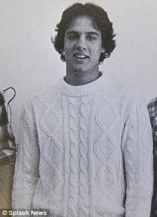 Chris Christie in his Livingston High Schoo, New Jersey class of 1980 yearbook pic (left) and at a school event (right). Both pictures show the dramatic weight gain that Christie has undergone over the past 30 years