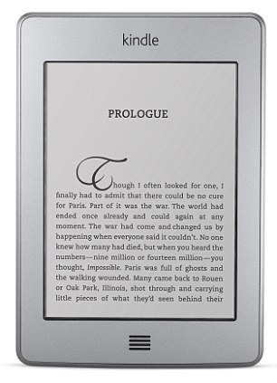 A Kindle touch-screen e reader, which are now massively popular