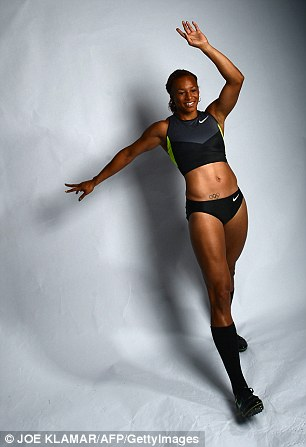 Heptathlonist Hyleas Fountain of the US Track and Field Olympic team
