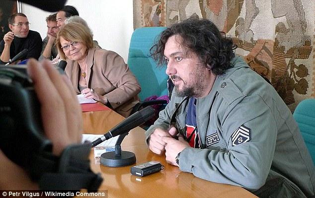 Award-winning: Slovak and Canadian photographer Joe Klamar during a press conference after he won Czech Press Photo 2009