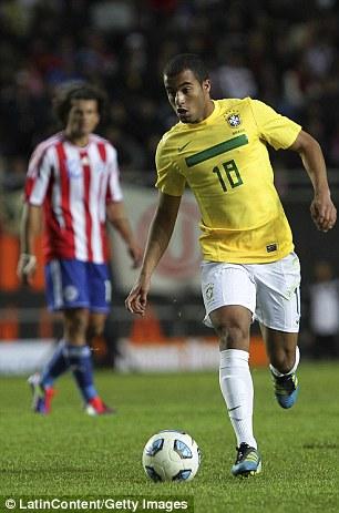Won't come cheap: Brazil midfielder Lucas Moura