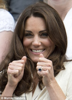 The Duchess Of Cambridge celebrates a Murray point