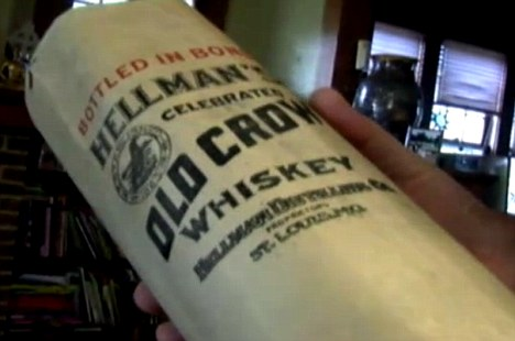 Bryan Fite discovered 13 bottles of Old Crow whiskey and two other brands while working on wiring in his attic