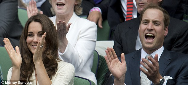 That's more like it: The royal couple make clear their approval as Murray wins a hard-fought point