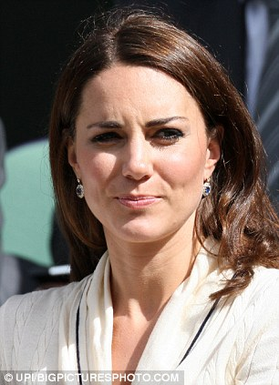 The Duchess of Cambridge watching the Murray semi-final on Centre Court