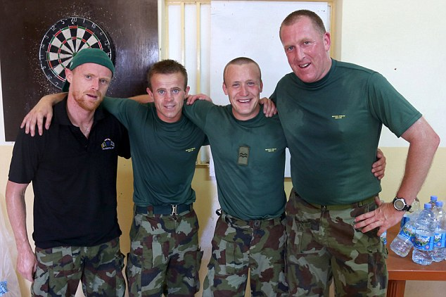 Job done! Duff look shattered after completing the Infantry Run