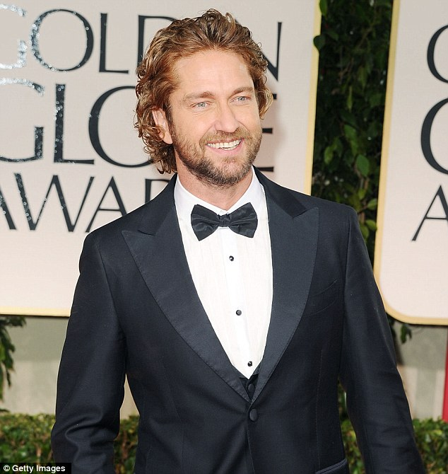 Hirsuit glamour: Butler at the Golden Globe Awards in Beverly Hills in January this year