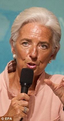 Warning: Christine Lagarde, the managing director of the International Monetary Fund, says the eurozone crisis has escalated globally