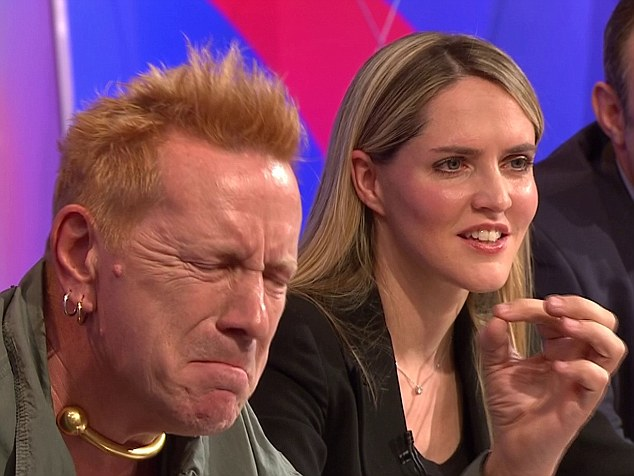 Clash: Lydon with the MP on Question time. The two often confronted each other during the debate