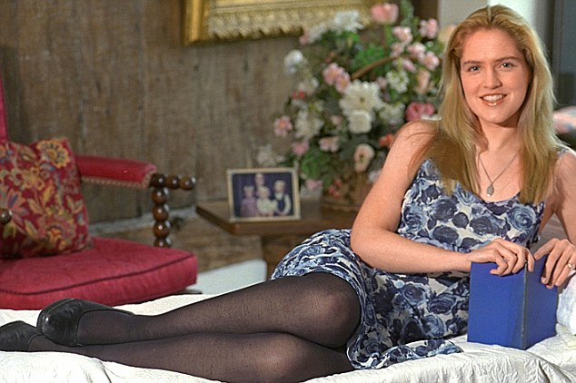 Party lifestyle: Louise Mensch, pictured in her 20s. On Thursday night, the MP admitted to taking Class A drugs