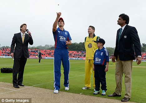 Old enemies: Alastair Cook won the toss and elected to bowl