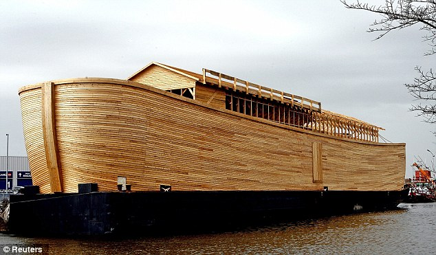 Prototype: The half-scale replica that Mr Huibers built in 2004, later floating it through the Netherlands' canals