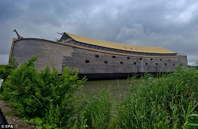 Faithful recreation: Johan Huibers's replica of the ark, in Dordrecht, in the western Netherlands, is now open to the public
