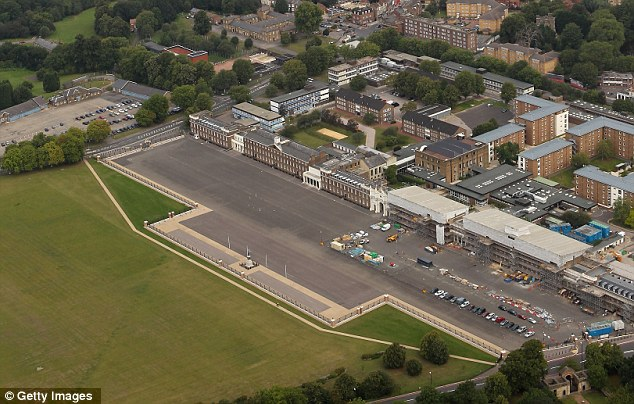 Thoroughfare: The street has been designated part of the Olympic Route network because of its proximity to the Royal Artillery Barracks (pictured), where the shooting and Paralympic archery events will take place