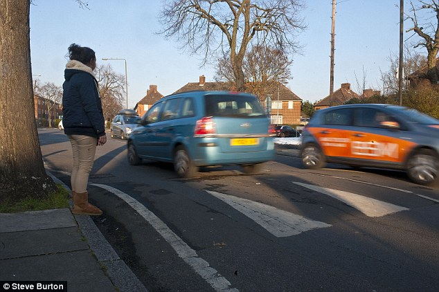 Before: One of the nine speed humps which have been torn out of Charlton Park Lane in Greenwich to ensure Olympic dignitaries get a smooth ride to and from the Games