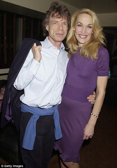 Still friends: Jagger and his now ex-wife model Jerry Hall in 2001