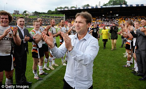 Pulling together:  Bradford coach Mick Potter is applauded from the field