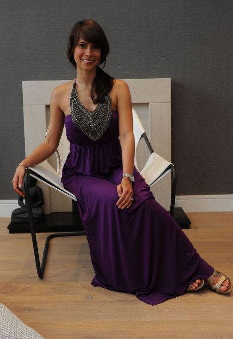 Adalyn Bayol in a £630 gown from the House of Rena that costs £59 to hire for two days