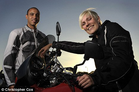 Wheeling and dealing: Louise Wilson, 31m and David Hubert, 32, hired out bike equipment to cut their costs