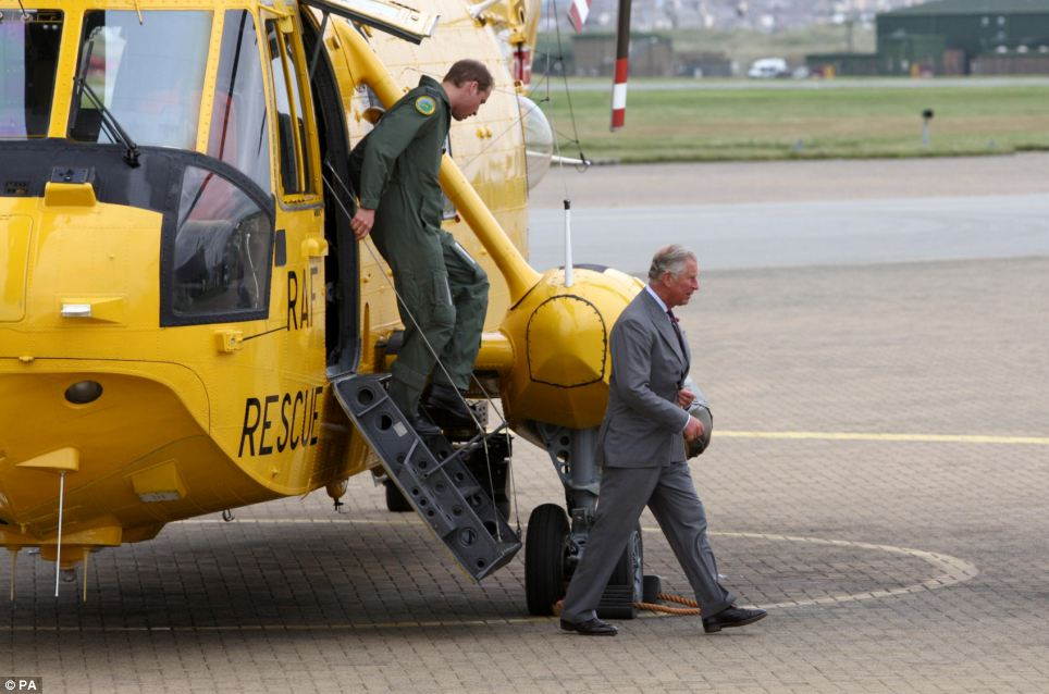 Prince Charles stopped off to see Prince William's RAF base during his annual summer tour of Wales