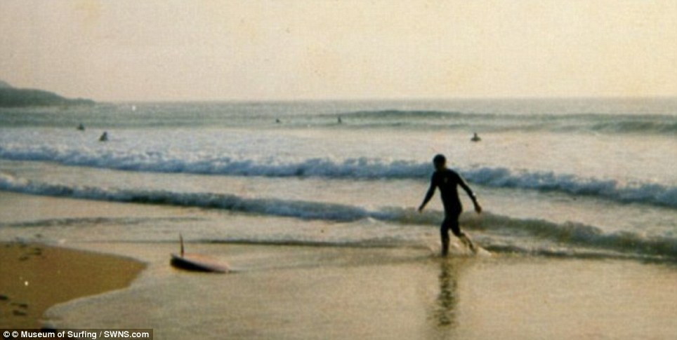 Surf skills: The photographs were taken in Constantine Bay in 1973, when the young Prince would slip unnoticed among the local surfers