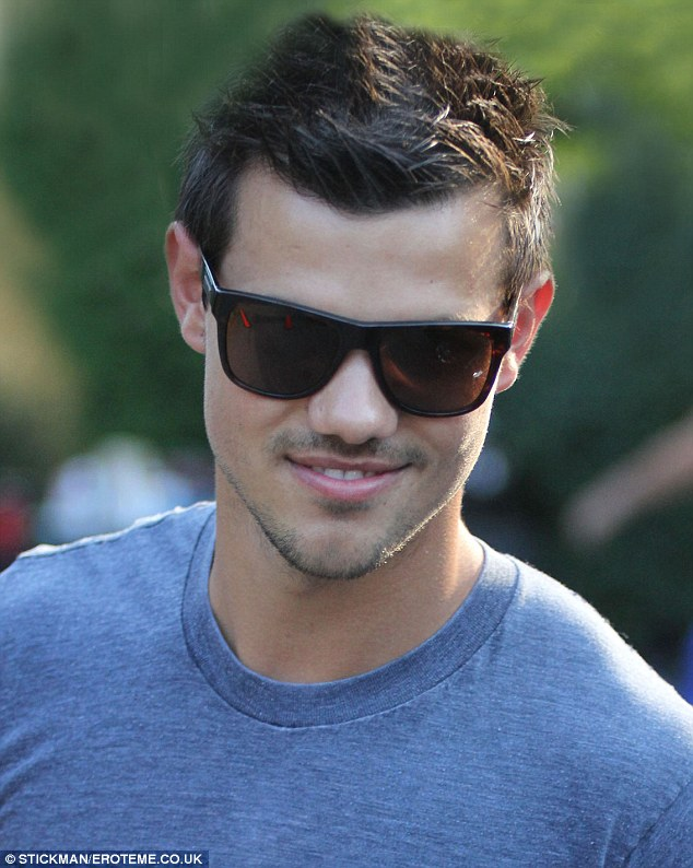 Handsome: Taylor is fast on the track of being a major Hollywood heartthrob