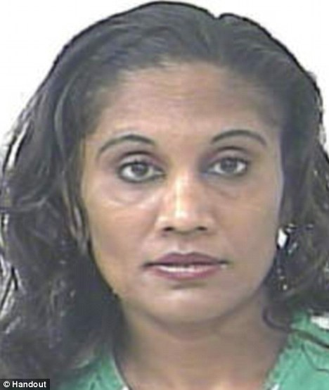 Arrested: Dawn Elaine Barran, 45, of Port St Lucie, Florida was charged with battery after she hit her husband with ice cream for having a girlfriend