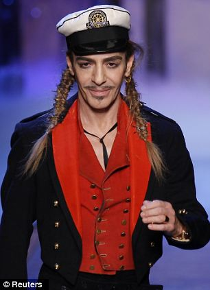 Disgraced designer: John Galliano was dismissed from Dior after he made anti-Semitic remarks at a Paris bar last year