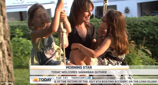 Morning star: The montage showed Savannah as more than just a co-host but a mother, daughter and friend also