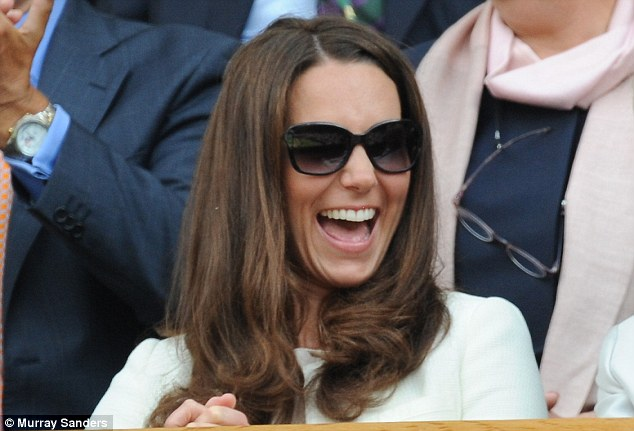 Ruling the waves: Kate's bouncy brunette style was the most requested in hair salons - until Kim came along