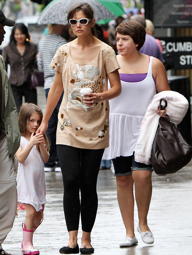 'Carefully planned ambush': Katie Holmes fired Tom Cruise's daughter Bella, seen here with the actress in 2010, two months ago when she was working for her clothing line Holmes and Yang, it has been claimed