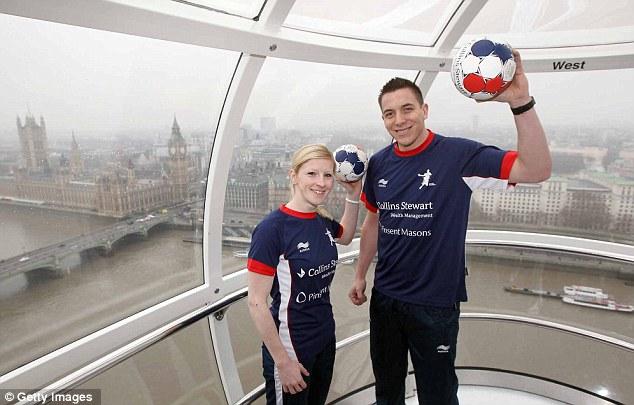 Handball captains: Lynn McCafferty and Bobby White