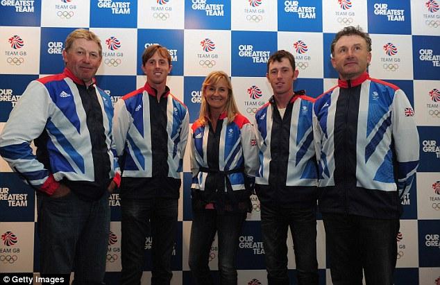 Equestrian events: (from left) Nick Skelton, Scott Brash, Tina Fletcher, Peter Charles and Ben Maher