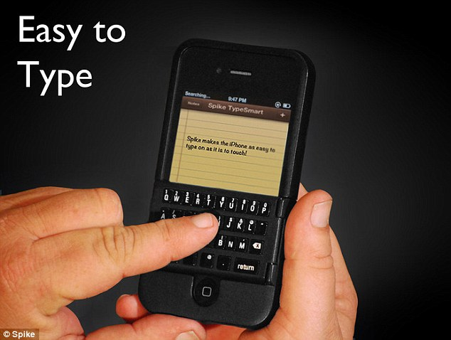 Easy: The makers call the keyboards TypeSmart 'because they are the natural and smart way to type on your iPhone'