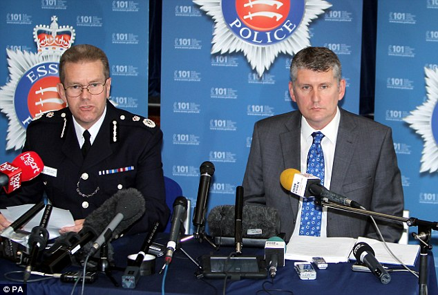 Update: Essex Police Chief Constable Jim Barker-McCardle (left) and Detective Superintendent Liam Osborne address the media this morning