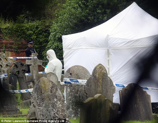 Probe continues: Reeve's body was found alongside a weapon in the grounds of All Saints Church
