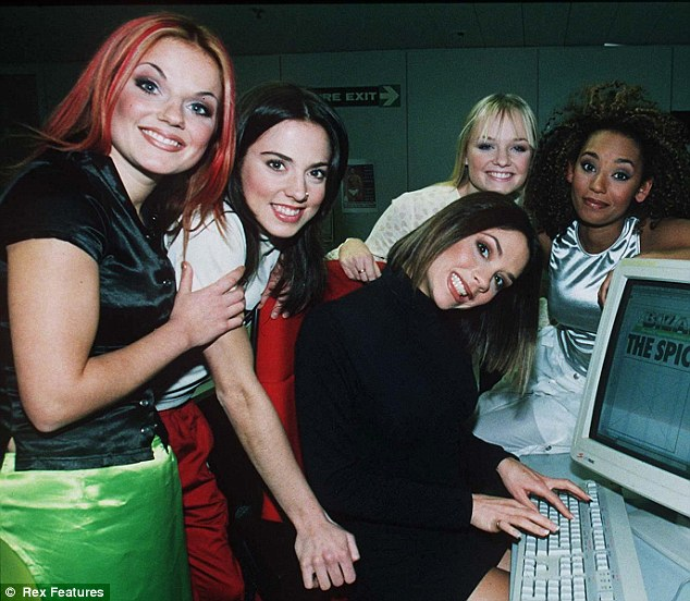 June 1996: Victoria shows her relief after being told her new nickname was Posh Spice not Happy Spice