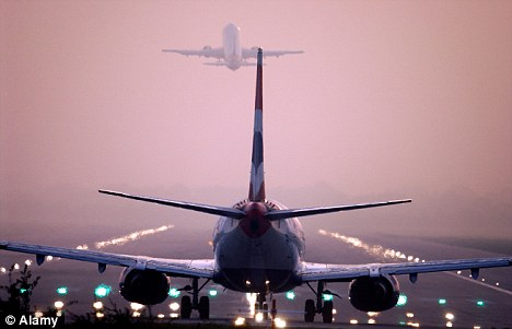 Unusual: The Civil Aviation Authority said ice falling from planes is very rare
