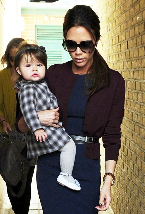 Good genes: With a mother like fashionista Victoria, it comes as no surprise that Harper Seven topped the list