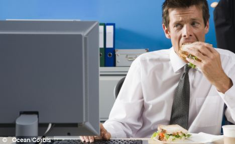 Workers are doing up to 16 extra days a year for free by eating lunch at their desks