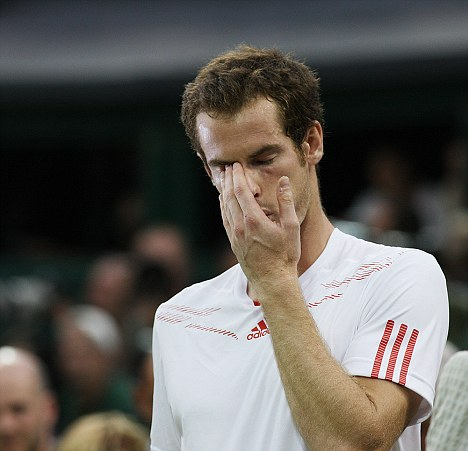 Only one in five men said they would cry in front of a stranger, Murray cried in front of millions